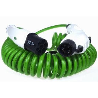 Type 1 til type 2 kabel spiralt