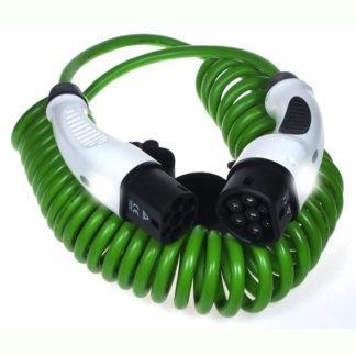 Type 2 til type 2 kabel med spiral
