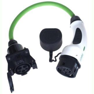 Mobil adapter fra type 1 stik til type 2